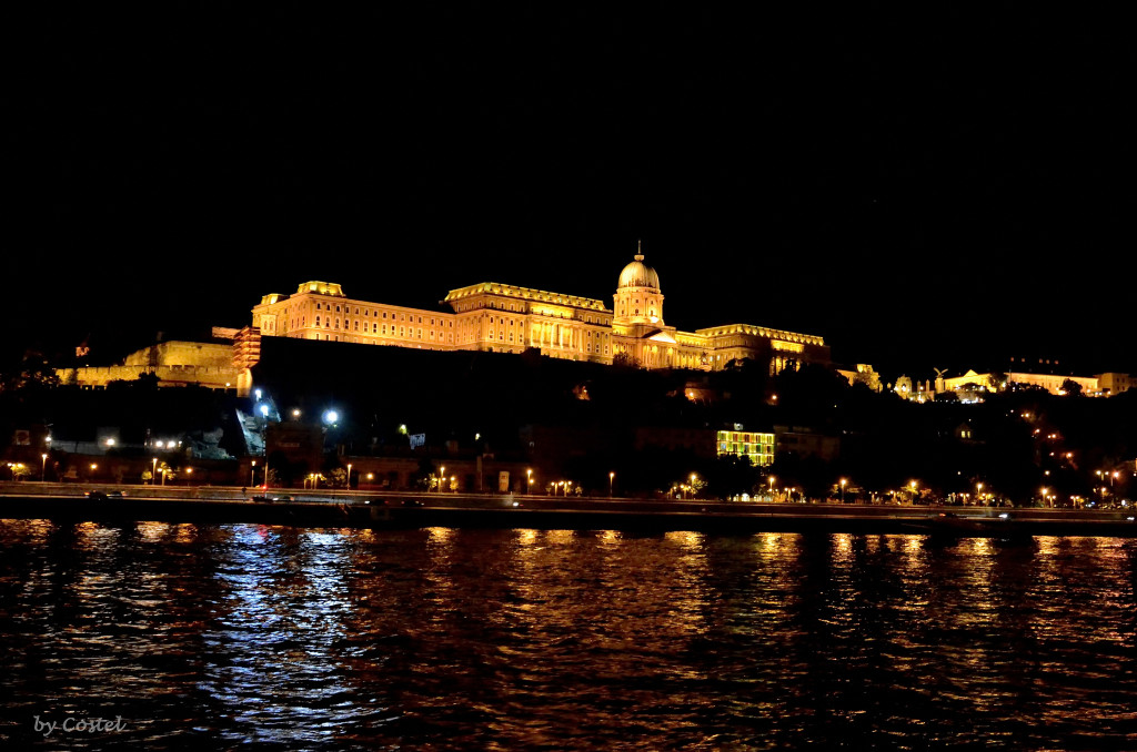 Buda Castle and Danube, Budapest, Hungary by Night_by_Costel Slincu
