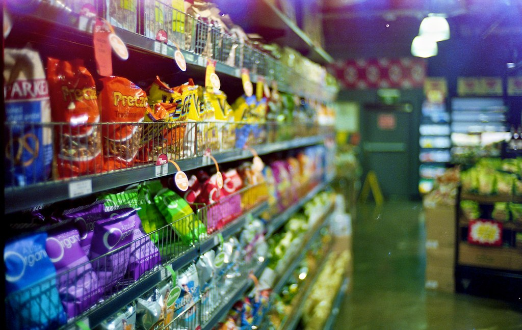 I took this during our Asian grocery shopping. It looks a little funky because it's from the same roll of film that I accidently opened the back on so it's overexposed in some places. The overexposure seems to make the colors pop a little.  The Nokton open wide at f1.4 8-)  Leica M6 VC 35mm Nokton f1.4 Kodak 400