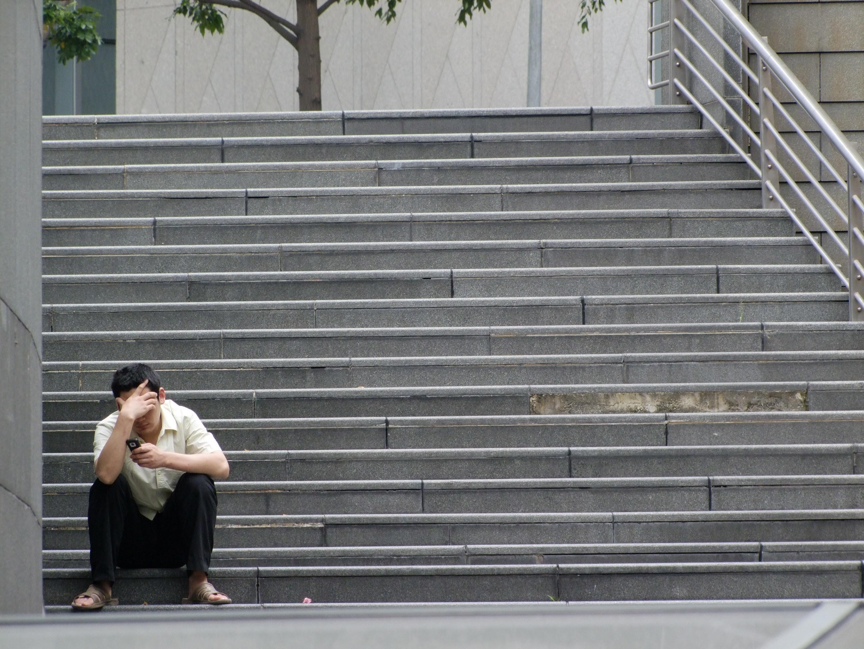 Фото мужчины на лестнице 10 фотография