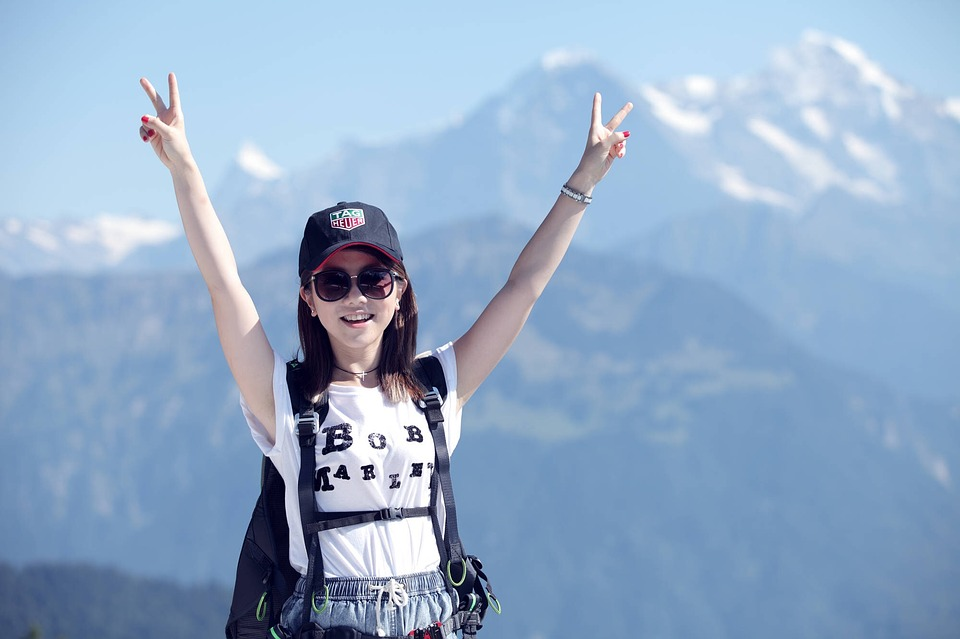 Travel Hiking Girls Climbing Joy G E M Mountain
